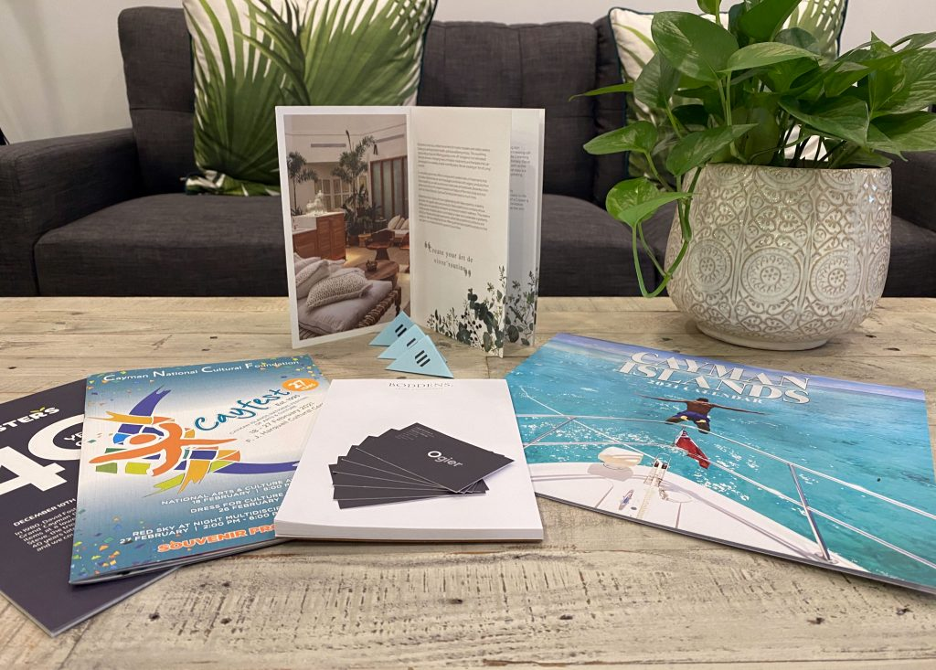 Brochures, stationery and business cards - printing in Cayman Islands